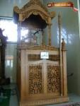 Mimbar masjid ukir mm 001, Mimbar masjid jati ukir, Mimbar masjid jati, Mimbar masjid ukiran halus, jual, harga, disain, model, murah, mewah, ukir