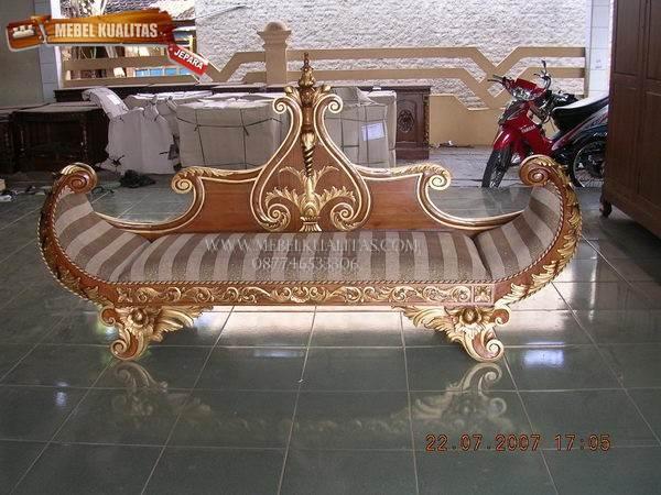 kursi sofa perahu | bangku sofa perahu | bale-bale perahu