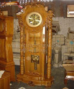 lemari jam ukir bambu jati lebar70cm tinggi 200cm 3.500.000 a
