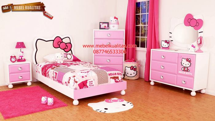 kamar set anak hello kitty KTM AB017