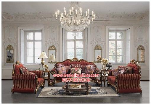 Kursi tamu sofa klasik premiere KTS AG036