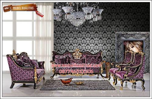 kursi tamu sofa klasik sofia 1 KTS BH 052