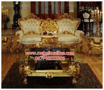 kursi tamu sofa victorian gold KTS BG029