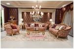 Kursi tamu sofa set klasik Racoco KTS BE 073, Set kursi tamu mewah Racoco KTS BE 073