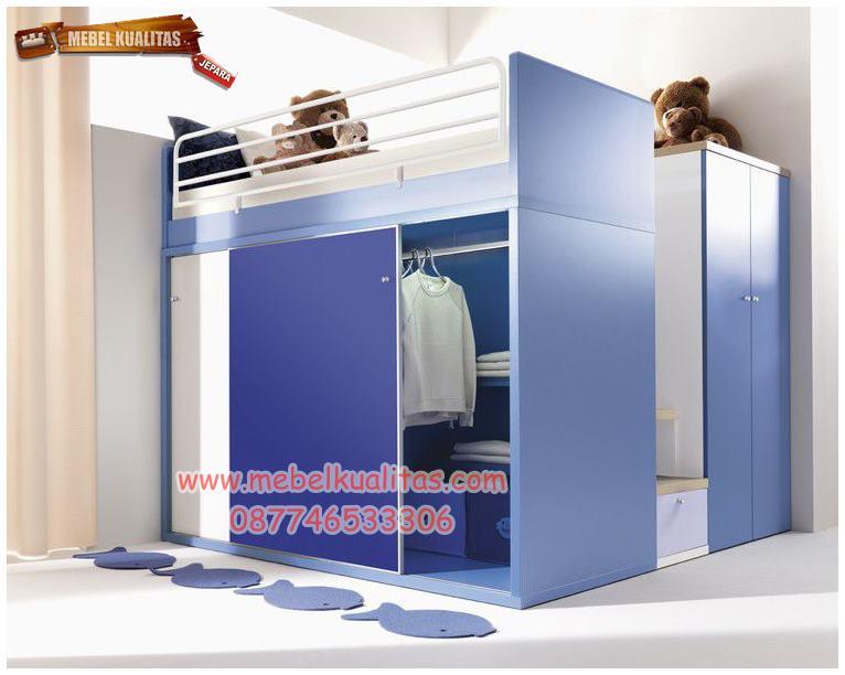 Set tempat tidur anak terbaru Letto KTM AI 035, set ranjang anak, dipan anak laki-laki, set kamar anak mewah Letto KTM AI 035