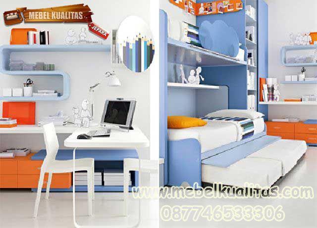 kamar tidur anak blue KTM BO 36
