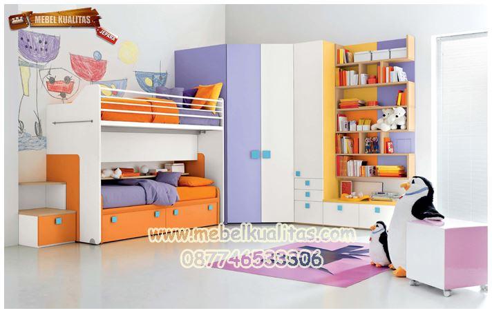 tempat tidur anak orange KTM BO 38
