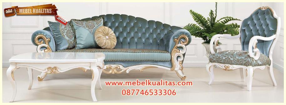 kursi tamu mewah, kursi tamu klasik, kursi tamu sofa terbaru, kursi tamu sofa termurah, furniture living room, set kursi tamu sofa klasik temporer KTS AE 105