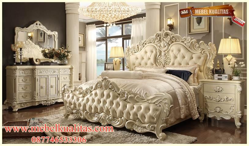 set kamar tidur dewasa Emperor klasik mewah terbaru ukir KTM BB 047