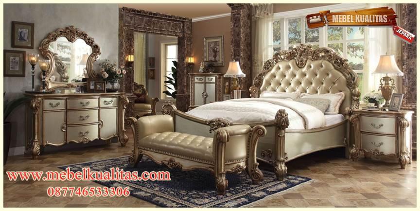 set kamar tidur dewasa regency klasik mewah terbaru modern ukir KTM BO 046
