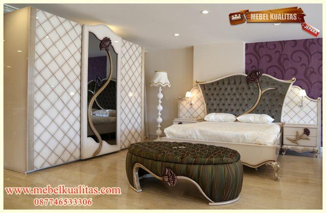 set kamar tidur dewasa klasik ukir modern mewah terbaru roses KTM BI 050