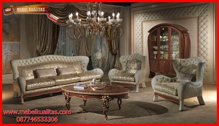 Kursi tamu sofa klasik mewah terbaru Divano KTS AH 121