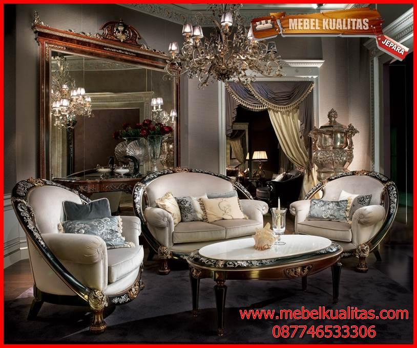 Kursi tamu sofa klasik ukir mewah terbaru Glamour KTS BO 122