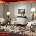 set kursi tamu sofa klasik mewah terbaru Vanezia KTS AF 120