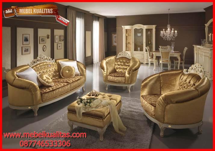 set kursi tau sofa klasik mewah terbaru Castillo KTS AF KTS 119