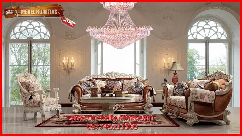 set kursi tamu sofa klasik mewah terbaru Brunello KTS BE 133
