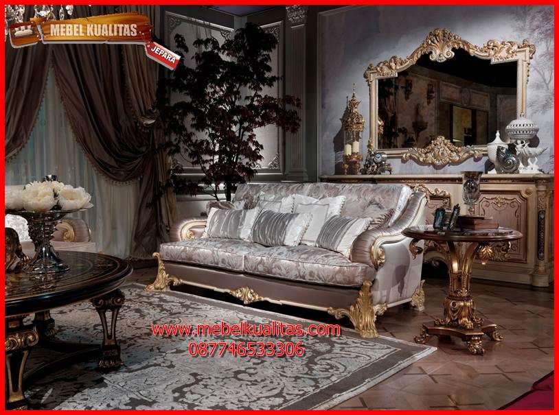 Kursi tamu sofa klasik mewah terbaru loveseat KTS BE 125