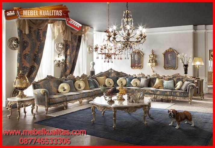 kursi tamu sofa klasik mewah antik terbaru Longer KTS CO 126
