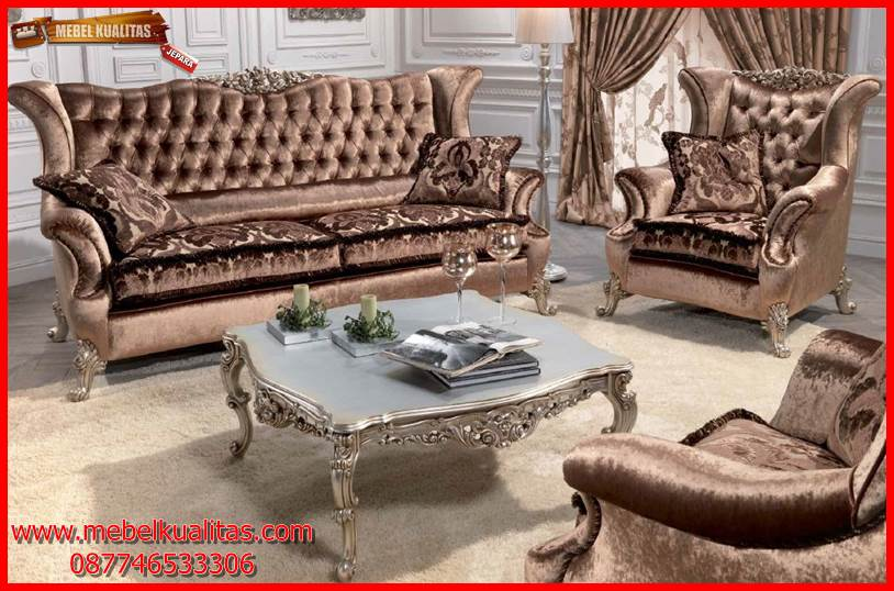 kursi tamu sofa klasik mewah terbaru Corona KTS BO 131