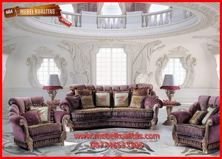 kursi tamu sofa klasik mewah terbaru Poltron KTS AF 128