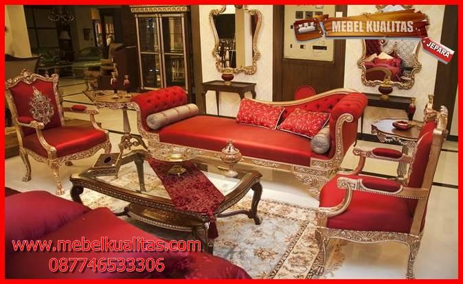 set kursi tamu sofa klasik mewah terbaru Salina New KTS AE 135