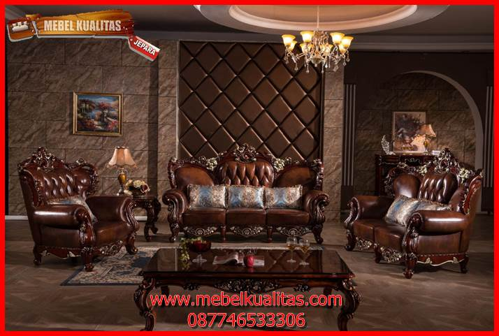 set kursi tamu sofa klasik mewah terbaru Spartan KTS BO 134
