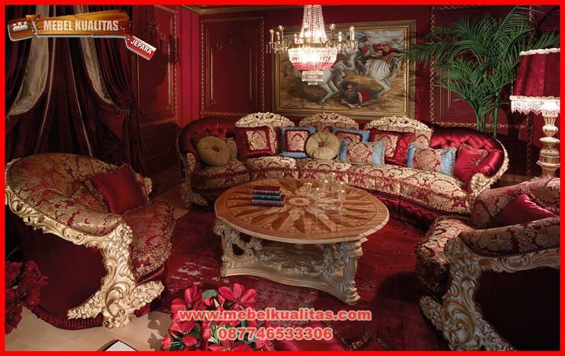 Kursi tamu sofa klasik mewah terbaru Royal Emperor KTS CF 146