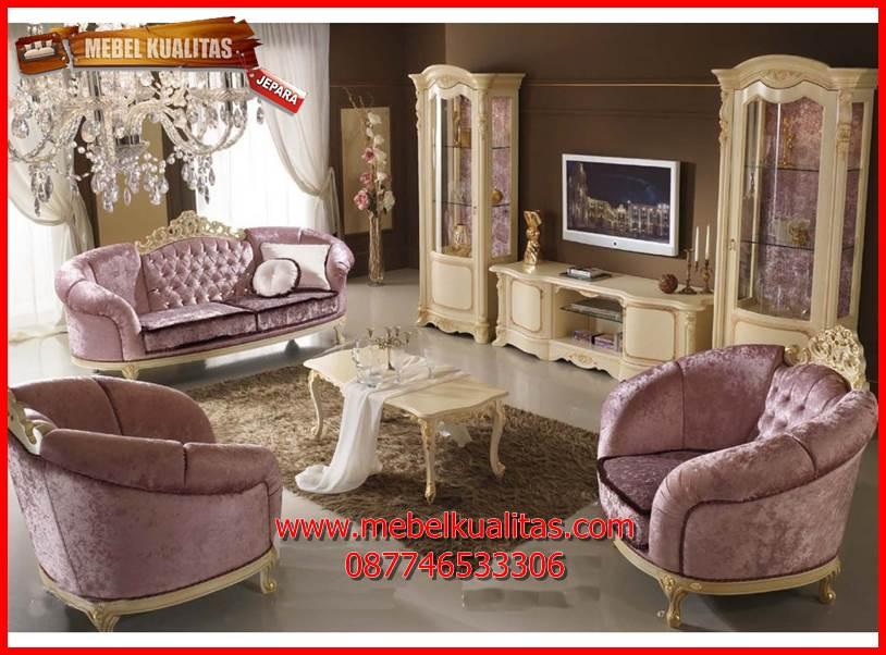 Set Kursi Tamu sofa klasik mewah terbaru Apollo KTS AE 140