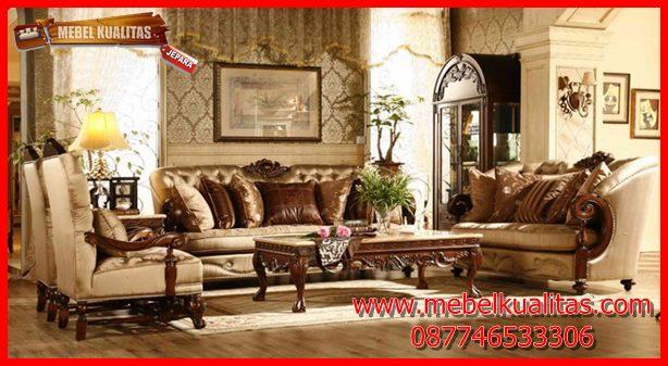 Set kursi tamu sofa klasik mewah terbaru Davinci KTS AE 142
