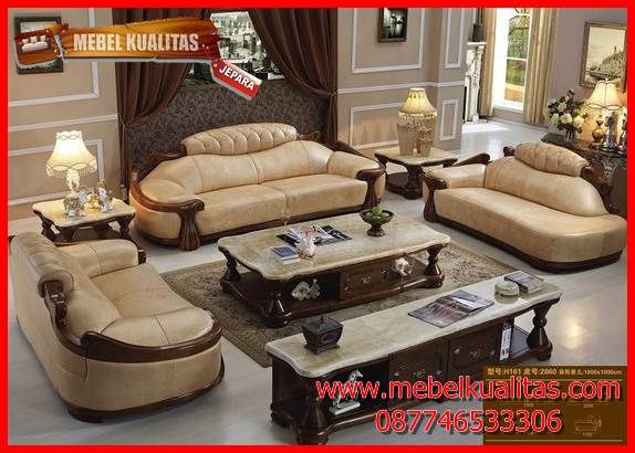 Set kursi tamu sofa klasik mewah terbaru skeleton KTS AE 138
