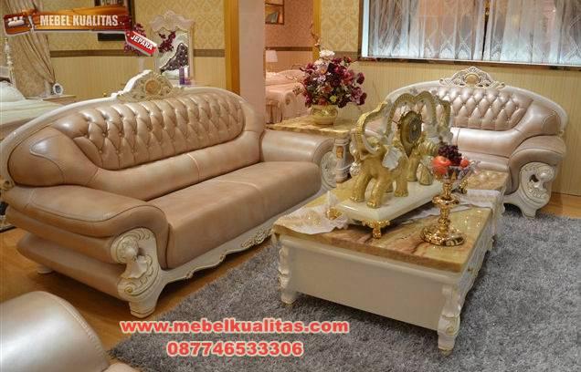 set kursi tamu sofa klasik mewah terbaru Capucino KTS AF 148