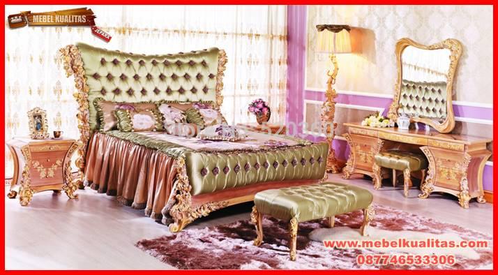 set kamar tidur dewasa rose mewah klasik terbaru KTM 070