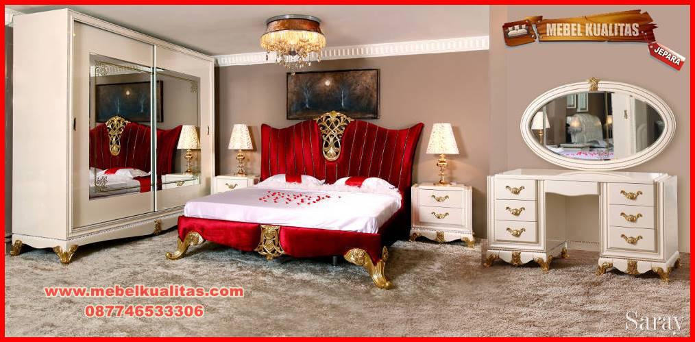 set kamar tidur dewasa klasik mewah terbaru Saray KTM 065