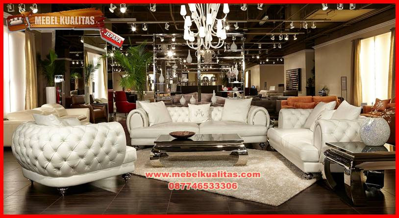 set kursi tamu sofa glitter klasik mewah terbaru KTS AG 149