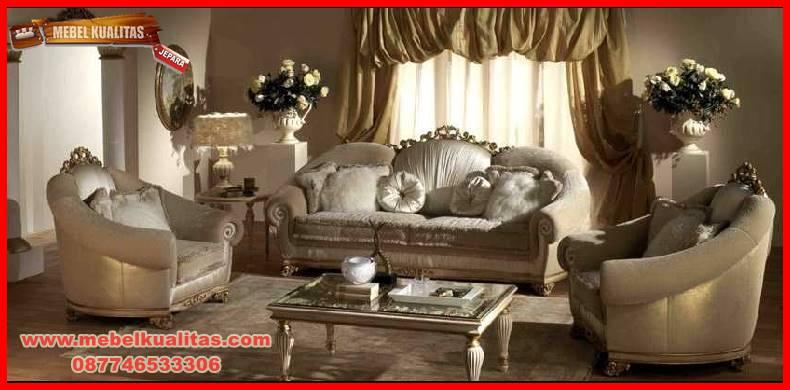 set kursi tamu sofa klasik terbaru mewah Mirales KTS AG 147