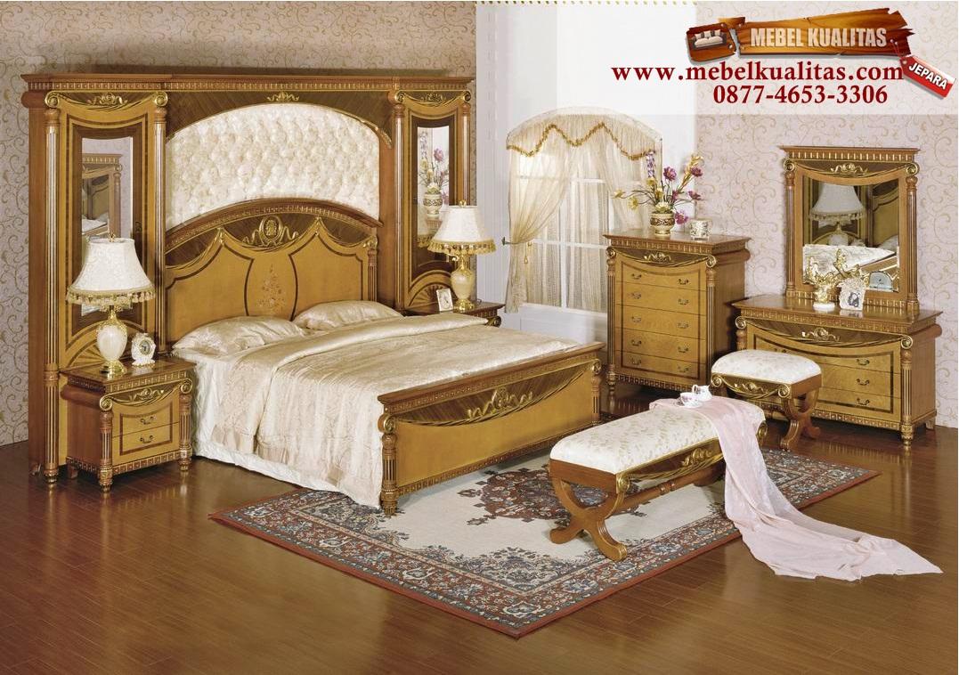 kamar tidur mewah, mebelkualitas.com, kamar tidur dewasa, kamar tidur klasik, kamar tidur jati