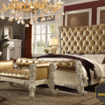 Set kamar tidur klasik mewah ukir terbaru Palacio KTM CE 111
