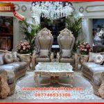 A Set kursi tamu jumbo klasik royal terbaru untuk ruang tamu utama Aladin KTS CD 161