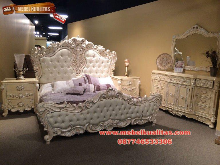 Set kamar tidur mewah white embargo ktm 145
