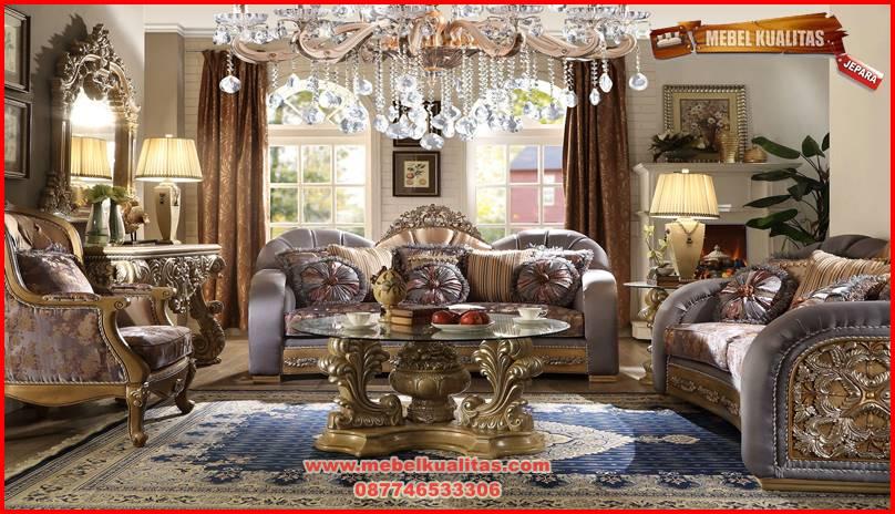 set kursi tamu sofa mewah klasik terbaru berkualitas ekspor cassabella KTS CO 168