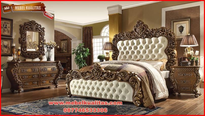 set kamar tidur dewasa mewah klasik antik terbaru tapasya KTM BO 154