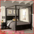 Set kamar tidur Kanopi Black furniture KTM 314