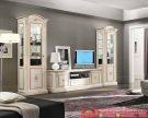 Set Bufet TV Klasik White Interior Rumah Terbaru