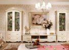 Set Bufet TV Mewah Almari Hias Zefran Klasik Furniture Jepara