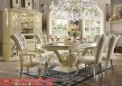 Set Kursi Meja Makan Mewah Dining Room Set Luxury White Terbaru