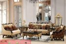 Set Kursi Tamu Sofa Black Gold Klasik Furniture Mewah