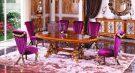 Set Kursi Meja Makan Mewah Luxo Europe Oval Terbaru