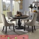 Set Furniture Dining Room Minimalis Round Table Terbaru