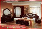 Set kamar tidur semi klasik mewah Jati furniture KTM 318