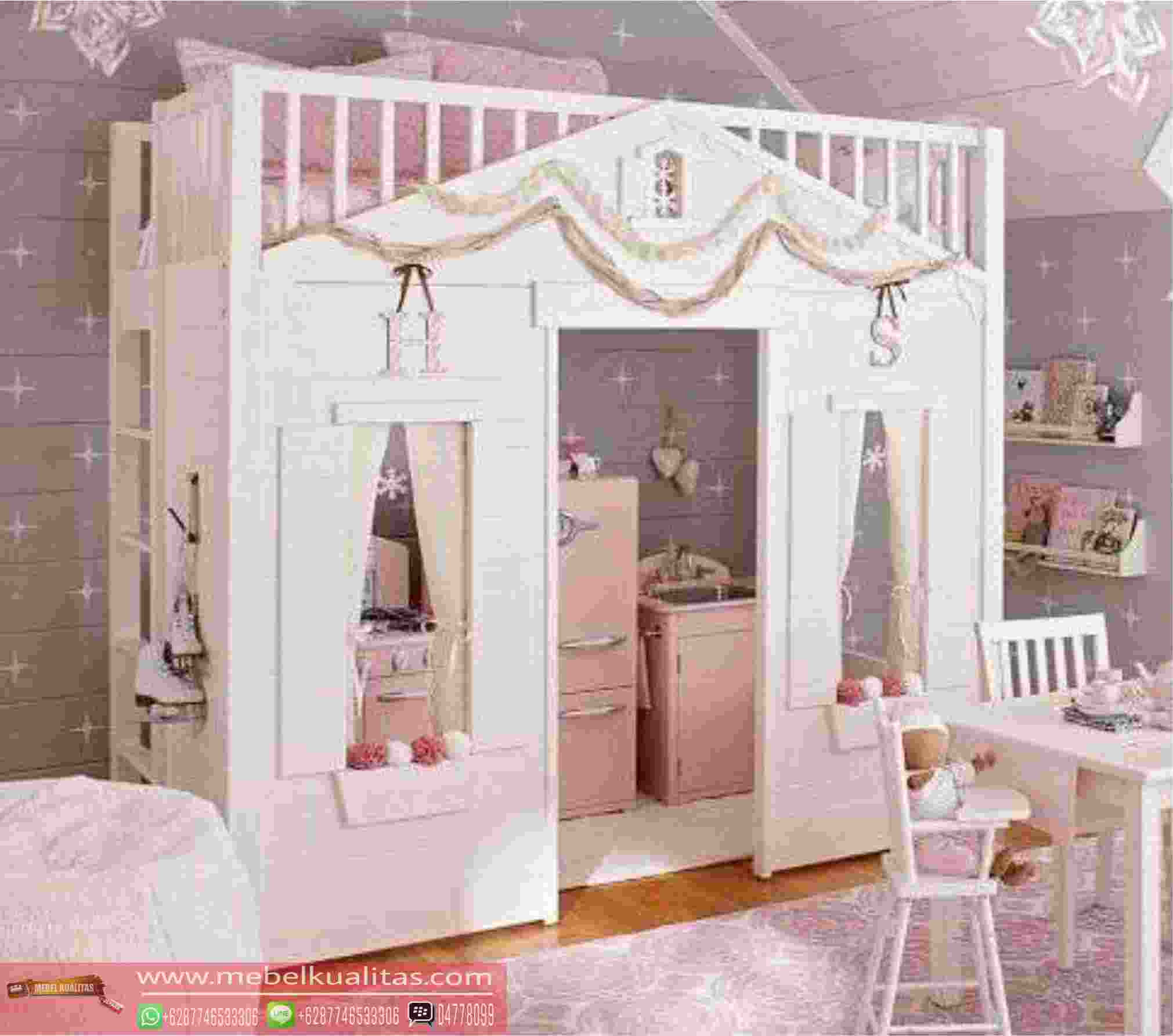 R Tidur Anak Perempuan Loft Bed Princess Modern Design